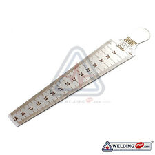 Taper Welding Gauge 15-30mm(5/8-3/16) Gap Slot Width Hole Size Metric&Inch Gage