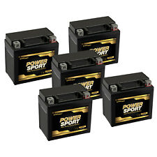 5 Pack - 12V 6AH SLA PowerSport Battery for ATV, Scooters, and Motorcycles