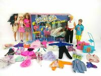 Vintage 1980's Barbie Lot With Dance Club Bandstand w/ Vintage Barbie and Ken