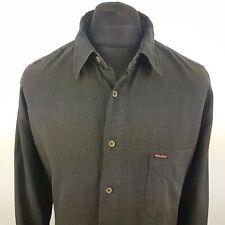Marlboro Classics Mens Vintage Cord Shirt XL Long Sleeve Green Regular Fit