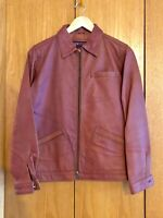 Women's THE TERRITORY AHEAD Brown Full Zip 100% Leather Jacket Size XS