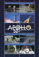 Madagascar 2019 MNH Apollo 11 Moon Landing Neil Armstrong 8v M/S Space Stamps