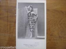 Annees 60 70 Photo fashion MODE P BILLET Chichimeque robe de terrasse toile jute