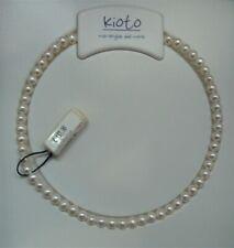 Collana Filo Perle Kioto diametro 6 5/7 Chiusura Oro Bianco 750 Ref.105b/1