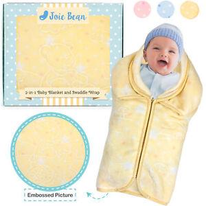 Baby Swaddle Wrap Baby Sleeping Bag Sack Infant Fleece Blanket 2 IN 1 Adjustable