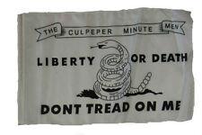 """12x18 12""""x18"""" Culpeper Liberty or Death Gadsden Culpepper Sleeve Flag Garden"""