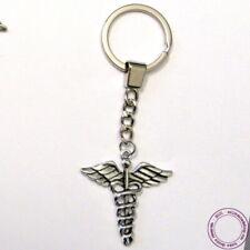 Porte-clés Caducée Ailé, attributs du dieu Hermès, mythologie grecque, médecine