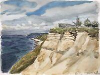 Karl Adser 1912-1995 Liseleje Sommertag Steilküste Strand Ostsee Dänemark