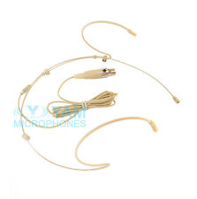 Beige YAM HM5-C4S Headset Headworn Mic for Shure wireless mics PGX,SLX,ULX1