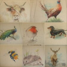 COUNTRY ANIMAL CUSHION & BAG PANELS by Chatham Glyn - Cotton Fabric (33 Designs)