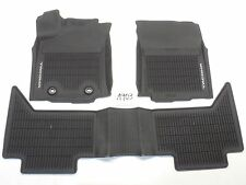 OEM BLACK all weather FRONT REAR FLOOR MATS TOYOTA TACOMA CREW CAB 16 17 18 NICE