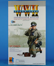 "DRAGON 1:6 FIGURE 12"" WW2 German Mountaineer Officer MP-738 Gun Lieutenant 70854"