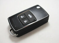 Remote Folding Key Flip Shell Case For Toyota Camry Corolla RAV4 Prado 3 Buttons