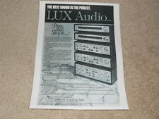 Luxman Ad, 1 pg, l-580,480, 450 Amps, T-450,400 Tuners, Article, Info 1978