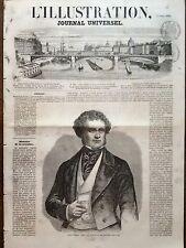 LA ILUSTRACIÓN 1858 NO 785 LORD DERBY, JEFE DE LA NUEVO GOBIERNO INGLÉS
