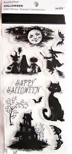 Happy Halloween Clear Stamp Set by Recollections 520998 NEW! Cat House Witch Bat