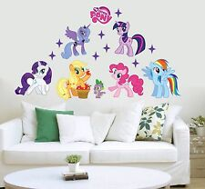 UK My Little Pony NEW STYLE 7 WALL STICKER 2017 Vinyl Kids Room Decal Twilight