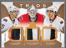 15/16 The Cup Trios Patch Karlsson Hammond Hoffman /10 C3-OTT Senators