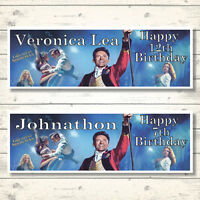 2 PERSONALISED THE GREATEST SHOWMAN BIRTHDAY BANNERS - 800 x 297mm