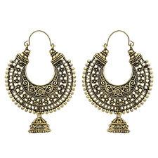Jwellmart Indian Bollywood Ethnic Women Oxidized Gold Hoop Fashion Earrings