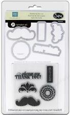 Sizzix FRAMELITS STAMP & DIE-CUT Times & Seasons #2 5 Stamps/5 Dies 659049