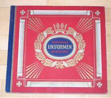 Sammelbilderalbum Uniformen der alten Armee Waldorf - Astoria