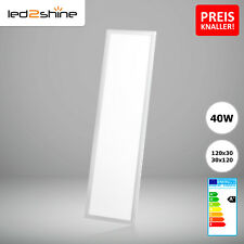 Aktion! LED Panel Deckenleuchte warmweiß 120x30 40W LED Leuchte ultraslim