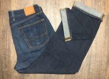 Lucky Brand Men's 34x30 481 Relaxed Straight Denim Blue Jeans Dark Bottoms EUC!