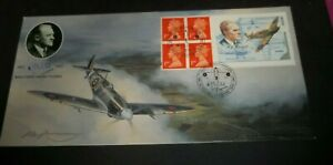 1995 SPITFIRE STAMP BOOK SIGNED BRADBURY FIRST DAY COVER - SOUTHAMPTON