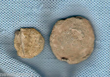 #347. TWO UNIDENTIFIED & UNCLEANED  MYSTERY ANCIENT ROMAN BRONZE COINS