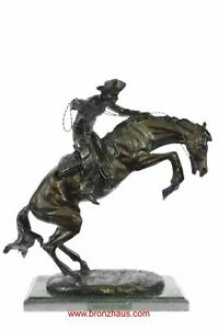 """BRONCO BUSTER Bronze Sculpture by Frederic Remington 17"""" x 18"""""""