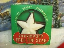 """New listing Vintage Christmas Paramount Lighted Tree Topper 5 1/2"""" Star Hard Plastic #340A"""