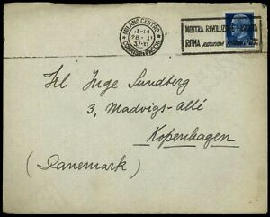 Italy 1933 Slogan Cover To Denmark, Letter Included #C57814