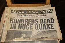 1989 SAN FRANCISCO EARTHQUAKE Newspaper LOT 3Different Issues