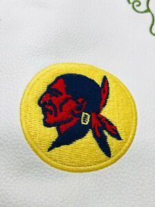 Seminole Golf Club White Yellow Leather Embroider Wine Holder Tote Bag Rare Mint