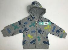Boboli Sweatshirt with Hood Grey boy Size 18 months freepost uk new tags sealed