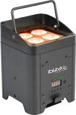 IBIZA BOX-HEX4 Akku LED PAR Scheinwerfer 4x12W Spot Floorspot Disco DJ Event