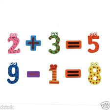 15pcs Kids Fridge Magnets Early Learning Educational Toys Math Brain Teaser Toy