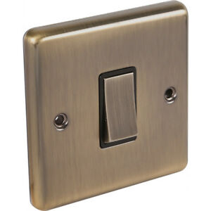 Antique Brass Sockets and Switches (Windsor) - Full Range