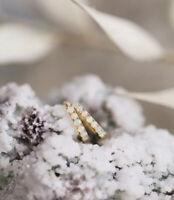 18k Yellow Gold plated over 925 Sterling Silver Opal Hoop Huggie Earrings