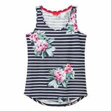 Joules Bo Print Jersey Vest Top (Floral Navy Stripe)