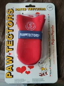Paw Tectors Dog Boots Fleece Lined S Frigid Temps Snow protector Red Canadian