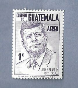 GUATEMALA STAMP PRESIDENT JOHN F. KENNEDY  MNH