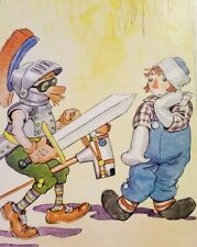 RAGGEDY ANDY WITH THE LOONIEST KNIGHT 1951 Johnny Gruelle Color Print