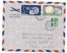 France 1962 Airmail Cover #1047-48 Space Satellite Rueil-Malmaison to USA