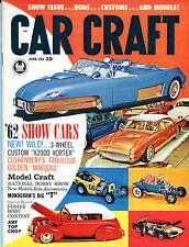 Car Craft Magazine June 1962 '62 Show Cars X2000 Vortex EX NO ML 121415jhe
