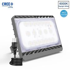 70W LED Flood Light Waterproof Outdoor Lamp Super Bright Yard Security with Plug