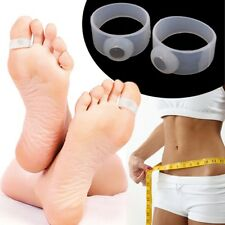 New 5 Pair Slimming Health Silicon Magnetic Massage Foot Toe Ring White
