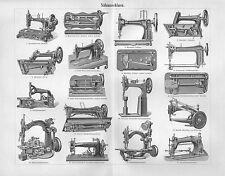 Nähmaschinen Nähmaschine Pfaff, Veritas, Dürkopp Holzstich v.1896 Viktoria Nova