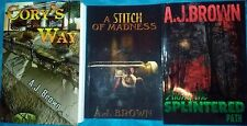 Signed and Inscribed Set A. J. Brown 3 Paperback Books Works of Fiction